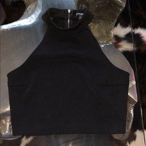 Black Dressy Crop Top
